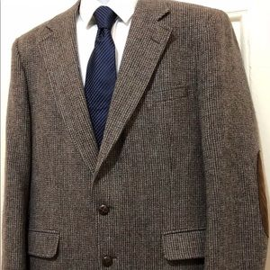 STAFFORD Mens 42R Blazer Hampshire Wool Sport Coat